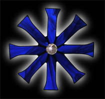 stained glass Baptismal Cross Suncatcher