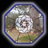 Stained Glass Lotus Window