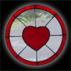 Small Stained Glass Heart Window