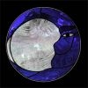 Small Stained Glass Moon Window