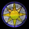 Small Stained Glass Sun Window