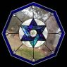 Stained Glass Star of David Window