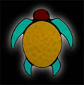 Stained Glass Native Turtle Symbol Suncatcher