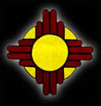 Stained Glass New Mexico Sun Suncatcher