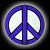 Stained Glass Peace Sign Suncatcher