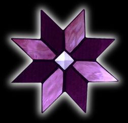stained glass Quilt Star suncatcher