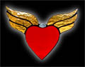 Stained Glass Winged Heart Suncatcher